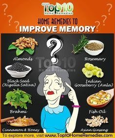 Top 10 Home Remedies to Boost Your Memory...                                                                                                                                                     More