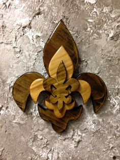 CTFDL4 Handcrafted Cypress Tri Layered Wooden Fleur De Lis Wall Decor by CajunCountryCreat on Etsy