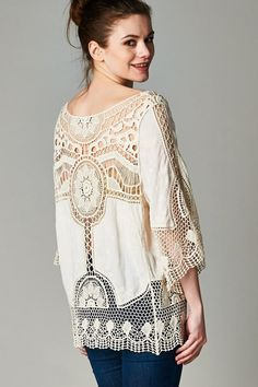 Crochet Capri Tunic | Women's Clothes, Casual Dresses, Fashion Earrings & Accessories | Emma Stine Limited