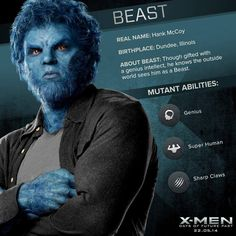X-Men: Beast. Reminds me of Sully.