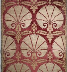 Textile Panel with Carnation Pattern, 17th century. Silk and metal-wrapped silk, velvet Brooklyn Museum, Gift of Frank L. Babbott, 22.42. Creative Commons-BY (Photo: Brooklyn Museum, 22.42_detail1_PS2.jpg)