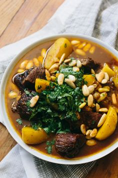 Lamb Tagine with Potatoes and Toasted Almonds | The Domestic Man