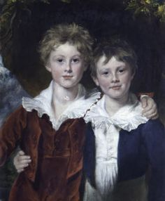 Thomas William Coke, later 2nd Earl of Leicester KG and his Brother the Hon. Edward Keppel Coke c.1830 by Samuel Lane