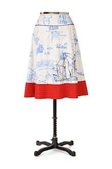 Fave skirt I own: Seafarer's Map Skirt - Anthropologie