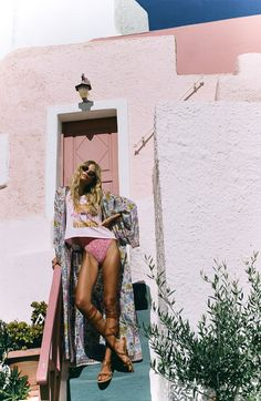 """somerollingstone: """"Alena Blohm by Brydie Mack for Spell Designs November 2016 """" Travel Outfit Summer, Summer Travel, Summer Outfits, Summer Dresses, Summer Of Love, Summer Looks, Summer Sun, Casual Summer, Alena Blohm"""