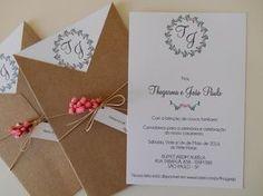 Convite Rústico Envelope V - II Rustic Boho Wedding, Diy Wedding, Wedding Day, Typography Invitation, Scrapbook Letters, Wedding Cards Handmade, Wedding Invitation Envelopes, Wedding Scrapbook, Marry Me