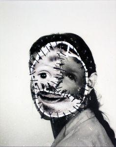 Mutter-Glück (Motherhood) photo restitchings by Annegret Soltau A Level Photography, Art Photography, Vintage Photography, Photomontage, John Stezaker, Edward Hopper, A Level Art, Arte Horror, Gcse Art