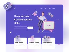 Top 3D user interfaces. A curated list of cool UI's, infused… | by Cristian Radu | SlackTime | Sep, 2020 | Medium Web Design Examples, Ux Design, Design Concepts, Graphic Design, Layout Design, Landing Page Inspiration, Web Design Inspiration, Design Ideas, Maquette Site Web