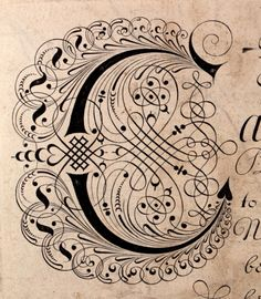 elaborate calligraphy Edward Cocker Early 18th...