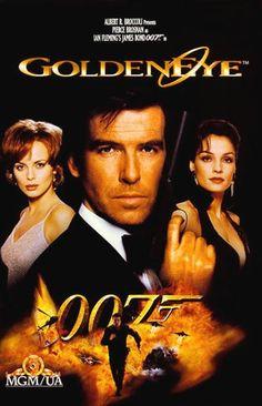 James Bond Golden Eye Pierce Brosnan as 007 James Bond Movie Posters, James Bond Movies, Famke Janssen, Pierce Brosnan, Old Movies, Great Movies, Vintage Movies, Cinema Paradisio, Estilo James Bond