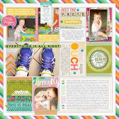 #projectlife #scrapbook page by Trace at #designerdigitals #week #365 #document #memory