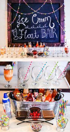 Ice Cream Float Bar | Fun Party Ideas || Happily Hughes