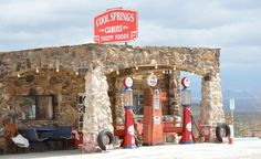 Cool Springs Station, Route 66, Kingman, Arizona.  A vintage restored gas station and gift shop.