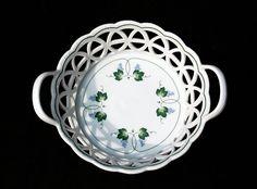 West Germany Fürstenberg Porcelain 'Alt Fürstenberg' Series Fruit Basket , 'Weinberg' pattern.
