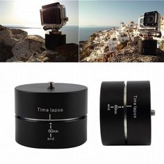 360 Degrees Panning Rotating Time Lapse Stabilizer Tripod Adapter for Gopro DSLR High Quality Photography Accessories