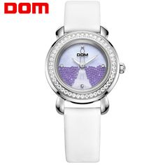 US $57.02 - DOM women watches luxury brand waterproof style quartz leather watch sapphire crystal reloj hombre marca de lujo G-613L-7M