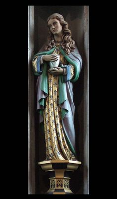 Mary Magdalene with her alabaster jar #mary #magdalene