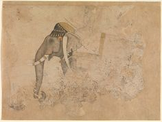 Elephant and Rider. Attributed to Hashim (ca. 1640).