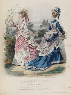 """""""Le Moniteur de la Mode"""" #Fashion Plate, circa 1874. #Victorian"""