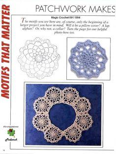 "Photo from album ""Рукоделие on Yandex. Crochet Collar, Crochet Motif, Diy Crochet, Crochet Doilies, Crochet Stitches, Crochet Patterns, Project Yourself, Neck Warmer, Crochet Clothes"