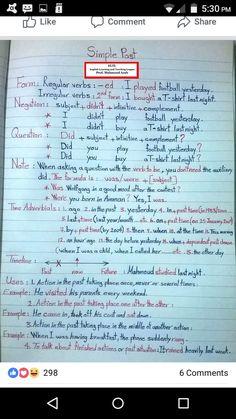 English Grammar Notes, Teaching English Grammar, English Language Learning, English Vocabulary, Essay Writing Skills, English Writing Skills, English Lessons, Grammar For Kids, English Vinglish