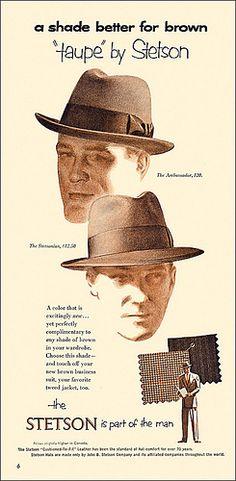 1952 Stetson Hat Ad