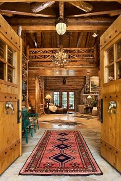 The Details in this Log Home are my Taste | ♥!!! Bebe'!!! Love the simple but elegant look of this home!!!