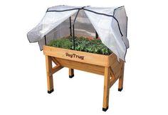 Frühbeethülle PE klein mit Rahmen für Vegtrug Pflanztrog - urban-gardener  - 1