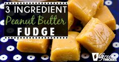 Ever since I started taking care of my health and changed up the foods I eat, I've been staying away from fudge like it is the devil. But, on a recent sweet tooth attack I've come up with an amazing peanut butter fudge recipe that has only 3 ingredients and is incredibly healthy.