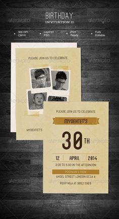 Birthday Invitation II