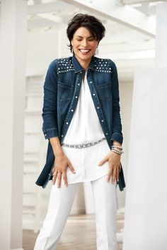 0ee330f30f Denim + Bling + Duster = Everything we love in one showstopping piece!  —Sher Canada, Chico's Style Expert