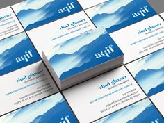 Custom business card design for Alpine Quantitative Investment Fun (AQIF).