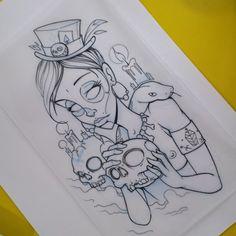 Ready ? ;) #ozer #tatouage #tattoo #graffiti #loveletters #dimitrihk #crew #skull #vodoo
