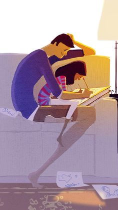 Pascal Campion 148 (Tandem by Pascal Campion) Family Illustration, Illustration Art, Anime Chibi, Art Du Monde, Pascal Campion, Timberwolf, Illustrations, American Artists, Amazing Art
