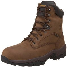 """Chippewa Men's 55168 IQ-8"""" Waterproof Insulated Composite Toe Boot Chippewa. $139.00. ASTM F2413-05 Approved Composite Toe, ASTM Electrical Hazard Rated. Insole: Flexwelt.. leather. Upper: Bay Apache Waterproof. Outsole: Black Rubber. Lining: Dri Lex.. Shaft measures approximately Ankle"""" from arch. Removable Cushion Insert.. Waterproof. Insulation: 400 Gram Thinsulate Ultra.. Rubber sole"""