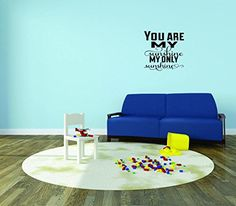 Home is Wherever I Am with You Text Lettering Quote Bedroom Color Peel /& Stick Wall Sticker Design with Vinyl Moti 2222 1 Decal Black Size 12 Inches x 18 Inches