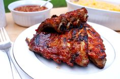 Don't have a grill but still want ribs for Memorial Day?  Try these Oven Baked BBQ Baby Back Ribs!  They are mouth-watering, tangy, juicy, tender and perfectly portioned!