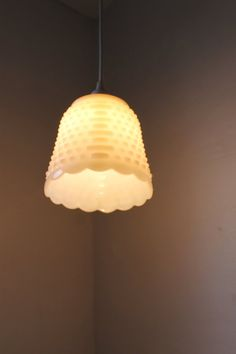 Igloo Fire King Milk Glass Hobnail Hanging Pendant by BootsNGus 1848da86e2176