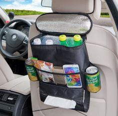 Tepoinn Rücksitz-Organizer, Rücksitztasche, Sitzlehne Organizer mit Kühlung und Isolierung Funktion für Auto, SUV, Minivan, LKW und Jeep
