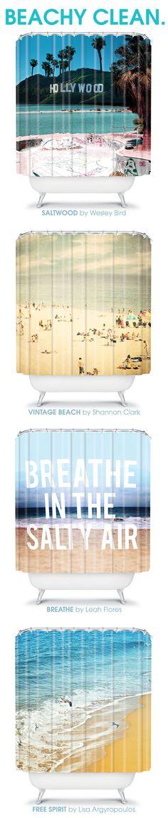 Beachy, summer lovin' shower curtains!