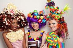 Colourful crazy hair