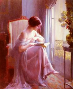 Reading by the window by Delphin Enjolras