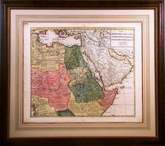 Map of the Middle East with a custom French Mat @bradleyshouston