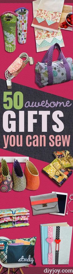 DIY Sewing Gift Ideas for Adults and Kids, Teens, Women, Men and Baby - Cute and Easy DIY Sewing Projects Make Awesome Presents for Mom, Dad, Husband, Boyfriend, Children http://diyjoy.com/diy-sewing-gift-ideas