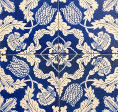 William Morris Tiles. William Morris Tulips Carnations 4 Tiles