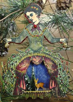 Christmas Garden Ornament using Character Constructions, artist Heather Maxwell