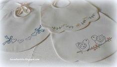 Disegno e modello dei tre bavaglini in picché visti sul mio blog lavandaelilla.com
