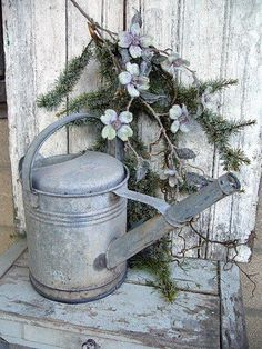 Old Zinc Watering Can