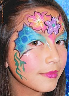 Little Mermaid Face Painting | Glitter tattoos are also a great alternative to face painting as they ...