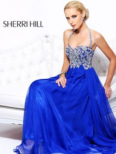 Sherri Hill 3836 Prom Dress 2013 I would like it better if it didn't have the halter strap. Not a fan of them